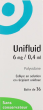 Unifluid 6 mg/ 0,4 ml, collyre en solution en récipient unidose